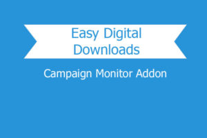 Easy Digital Downloads Campaign Monitor Addon