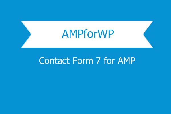Contact Form 7 For Amp